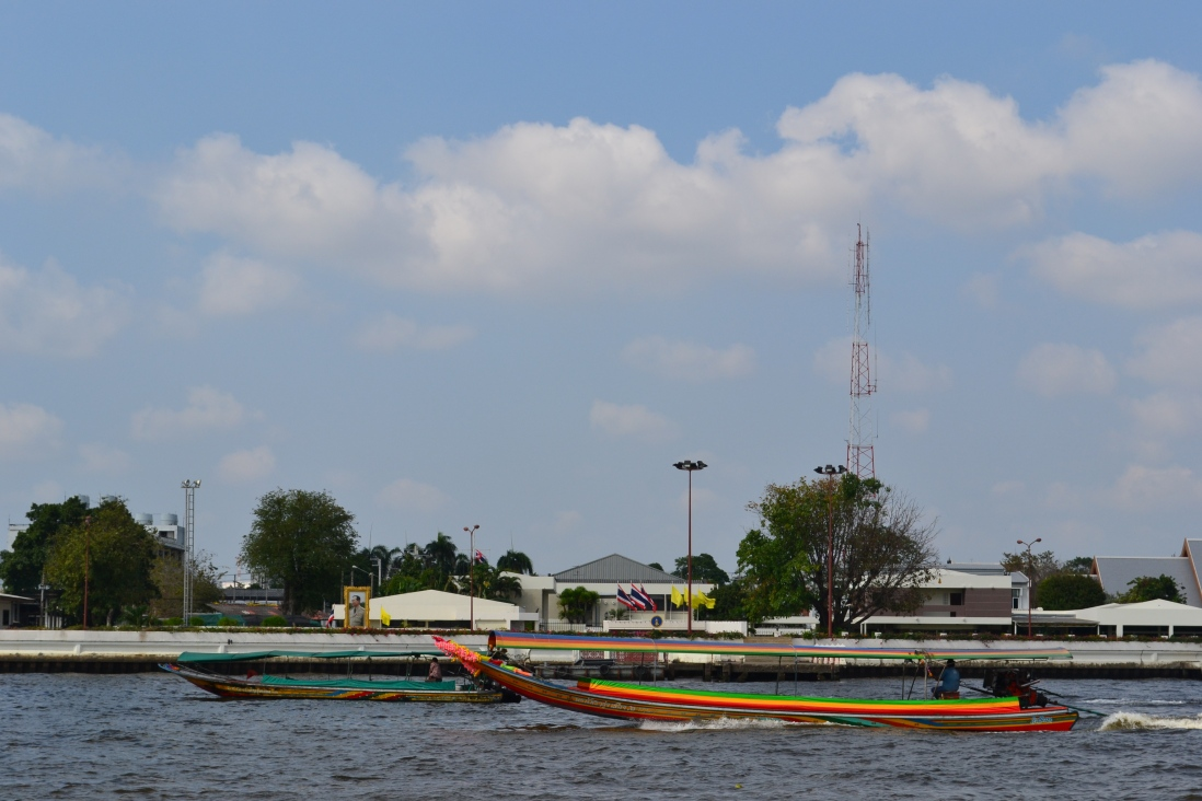 Long-tailed boats on the Chao Phraya River