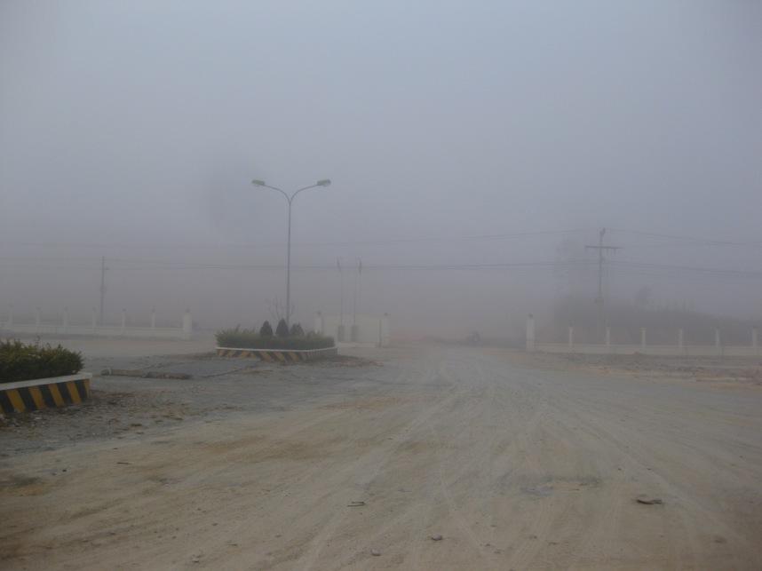 Foggy Phonsavan